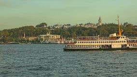 Turystyczne łodzie w Istanbuł Obrazy Royalty Free