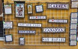 Turystyczne płytki w Hiszpania Fotografia Stock
