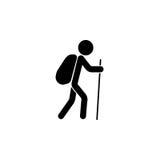 Turystycznego backpacker stała ikona, podróży turystyka Fotografia Stock