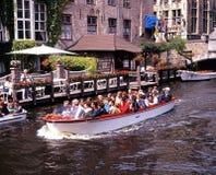 Turystycznej łodzi wycieczka, Bruges Obraz Royalty Free