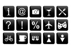 Turystycznej podróży ikony set Fotografia Stock