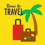 Turystycznej podróży plakat Zdjęcia Royalty Free