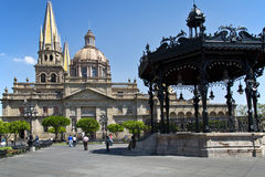 Turystyczni zabytki miasto Guadalajara Zdjęcia Royalty Free