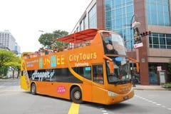 Turystyczny autobus Singapur fotografia royalty free