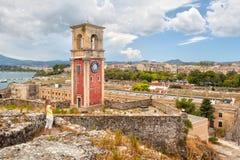 Turystyczny bierze obrazek stary miasto przy venetian fortecznymi clo Obrazy Stock