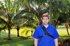 Turystyczny facet Zdjęcia Stock