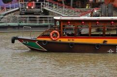 Turystyczny ferryboat: Clarke Quay, Singapur Obraz Royalty Free