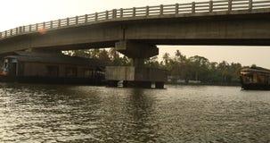 Turystyczny Houseboat Alleppey Kerala India zbiory wideo