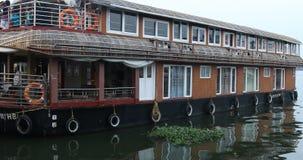 Turystyczny Houseboat Alleppey Kerala India zbiory
