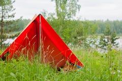 Turystyczny namiot w lecie Obraz Stock