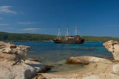 Turystyczny pirata statek obraz royalty free