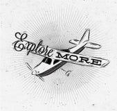 Turystyczny plakata samolot ilustracja wektor