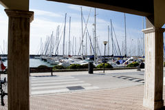Turystyczny port Rzym obrazy stock