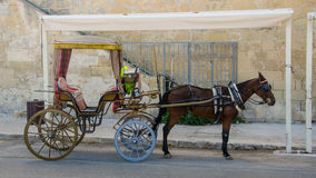Turystyczny rydwan w Starym mieście Valletta, Malta Obrazy Stock