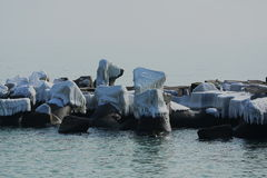 Turystyczny schronienie, zima Zdjęcie Stock