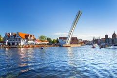 Turystyczny statek na Motlawa rzece w Gdańskim Zdjęcie Royalty Free