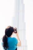 Turystyczny Zwiedzać W Dubaj obraz royalty free