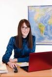 Turystyka agent miejsce pracy w biurze Zdjęcia Stock
