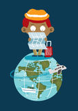 Turystyka na ziemi Zdjęcia Stock