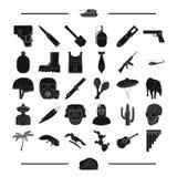 Turystyka, zwierzęta, natura i inna sieci ikona w czerni, projektujemy maszyneria, bronie, wojsko, ikony w ustalonej kolekci royalty ilustracja