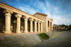 Turystyki centrum informacyjne Svetitskhoveli Ortodoksalną katedrą w Mtskheta, Gruzja Obrazy Stock