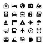 Turystyki i podróży Wektorowe ikony 1 Zdjęcia Stock
