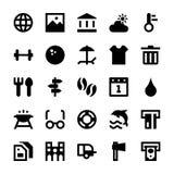 Turystyki i podróży Wektorowe ikony 4 Obrazy Stock