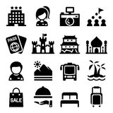 Turystyki ikony set Fotografia Stock