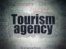 Turystyki pojęcie: Turystyki agencja na Cyfrowych dane papieru tle obrazy royalty free