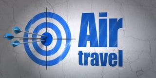 Turystyki pojęcie: cel i podróż powietrzna na ściennym tle ilustracja wektor