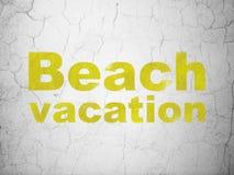 Turystyki pojęcie: Plażowy wakacje na ściennym tle Obrazy Stock
