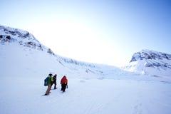 turystyki zima fotografia stock