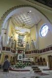 Turza Slaska, Polen, am 7. Oktober 2017: Presbyterium mit einem Alta Lizenzfreie Stockbilder