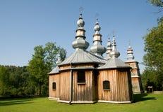 Turzansk, Poland. Wooden church in village Turzansk in eastern Poland royalty free stock photography