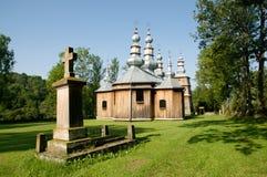 Turzansk, Poland. Wooden church in village Turzansk in eastern Poland stock image