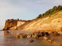 Tusan峭壁日落,米里,沙捞越马来西亚 库存图片