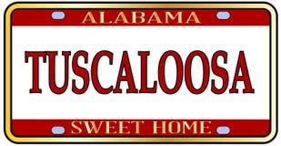 Tuscaloosa miasta Alabama stanu tablica rejestracyjna Zdjęcie Royalty Free