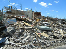 TUSCALOSA,美国2011年4月28日,毁灭的龙卷风的损伤 免版税库存图片