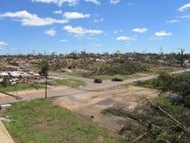 TUSCALOSA,美国2011年4月28日,毁灭的龙卷风的损伤 图库摄影