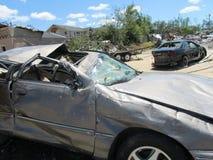 TUSCALOSA, ΗΠΑ στις 28 Απριλίου 2011, ζημία του καταστρεπτικού ανεμοστροβίλου στοκ εικόνα