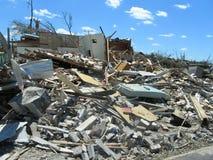 TUSCALOSA, США 28-ое апреля 2011, повреждение опустошительного торнадо Стоковые Изображения RF