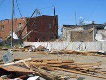 TUSCALOSA, USA am 28. April 2011, Schaden des verheerenden Tornados Lizenzfreies Stockfoto
