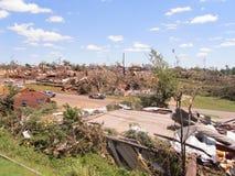 TUSCALOSA USA 28 APRIL 2011, skada av den förödande tromben royaltyfri bild
