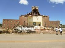 TUSCALOSA USA 28 APRIL 2011, skada av den förödande tromben royaltyfria bilder