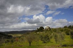 Tuscan αγροικία (Podere) Στοκ Εικόνες