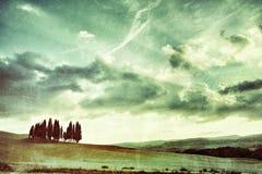 Tuscan αγροτικό τοπίο Στοκ εικόνα με δικαίωμα ελεύθερης χρήσης