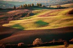 Tuscan επαρχία, ιταλικό τοπίο Στοκ φωτογραφίες με δικαίωμα ελεύθερης χρήσης