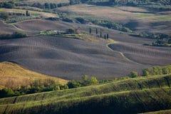 Tuscan επαρχία, ιταλικό τοπίο Στοκ φωτογραφία με δικαίωμα ελεύθερης χρήσης