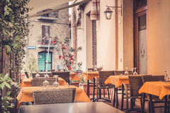 Tuscan εστιατόριο Στοκ εικόνα με δικαίωμα ελεύθερης χρήσης