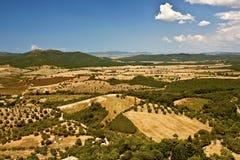 Tuscan λόφοι στοκ φωτογραφίες